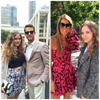 Left: Adam Gallagher, right: Anna dello Russo