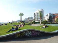 Chillen gegenüber vom StrandPauli