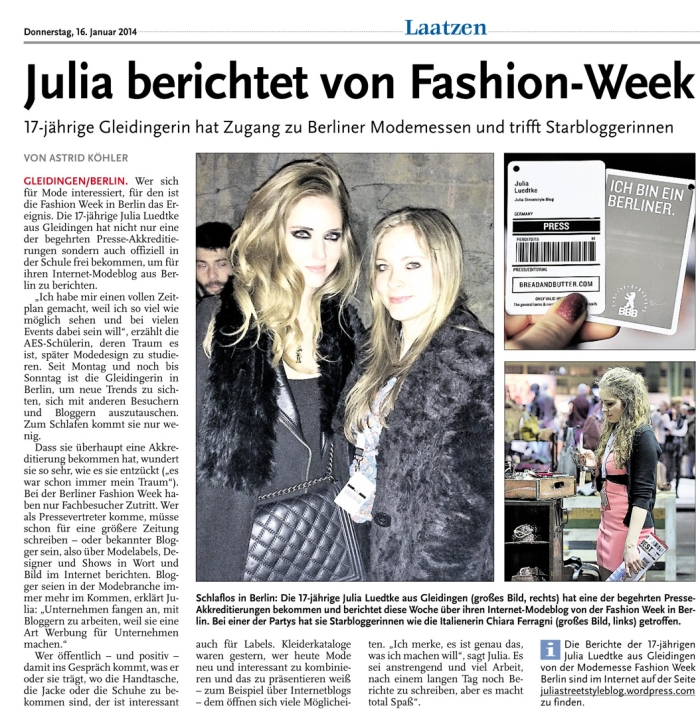 HAZ_LN_16.1.2014_Julia_berichtet_von_der_Fashion_Week