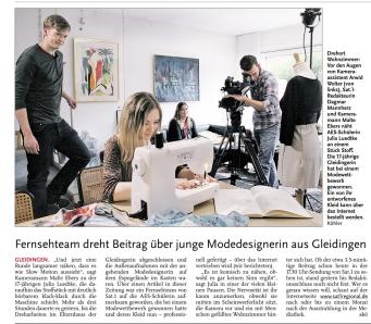 HAZ_LN_31.3.2014_Fernsehteam_dreht_Beitrag_über_junge_Modedesignerin_aus_Gleidingen